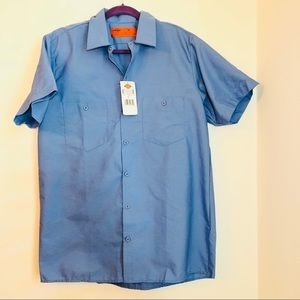 2 brand new DICKIES WORK SHIRTS size m light blue